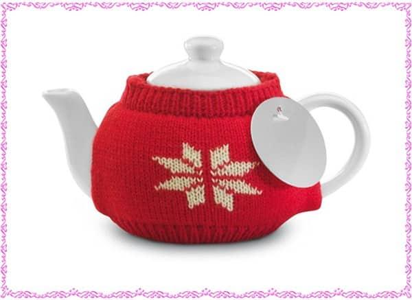 Teiera in ceramica di Natale - Tuo logo