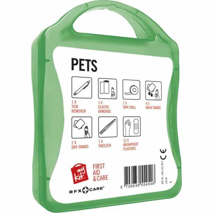 Retro kit verde di pronto soccorso per animali