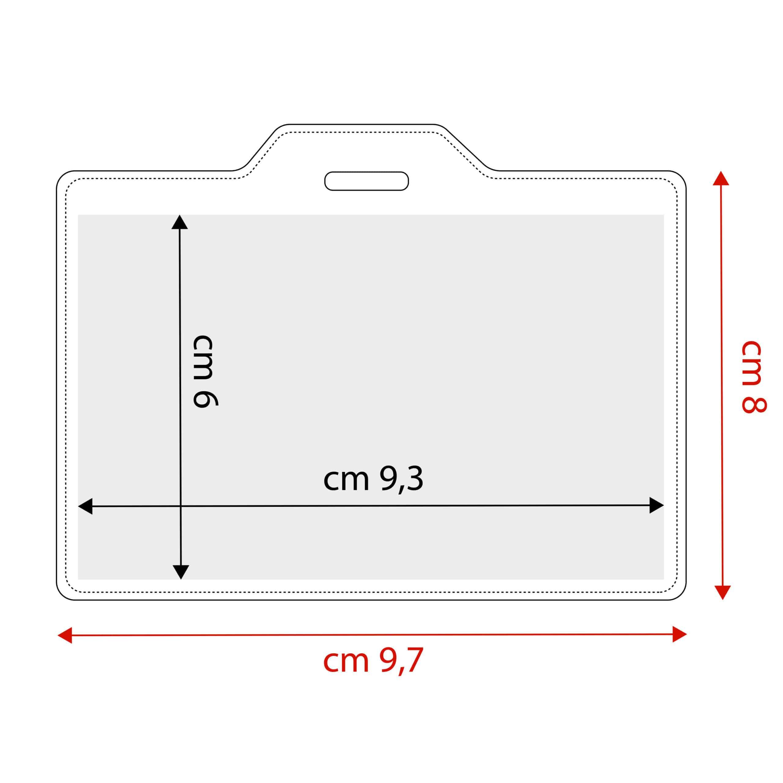 Tabella dimensione porta badge