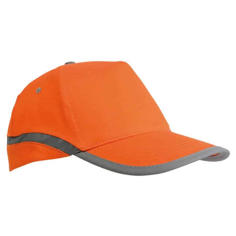 Cappellino in cotone arancione con chiusura in velcro
