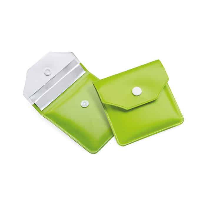 Posacenere tascabile in plastica verde