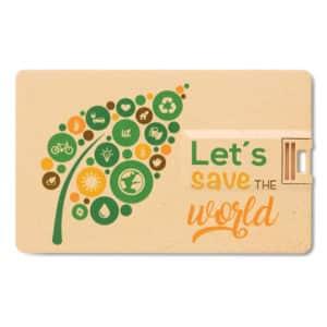 Chiavetta USB Card in paglia