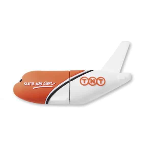 Chiavetta usb in pvc a forma di aereo con logo tnt
