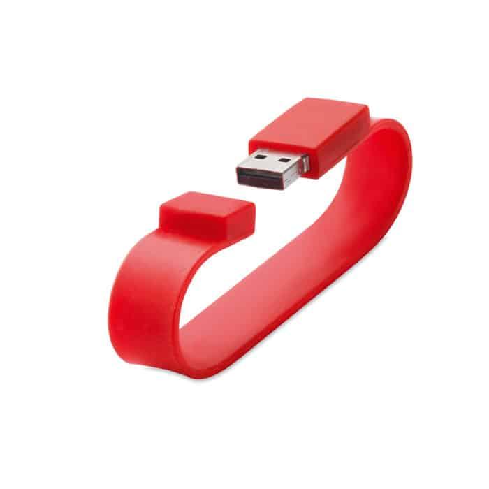 Chiavetta usb a forma di braccialetto rosso