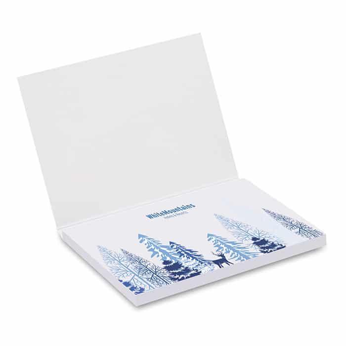 Block notes con cartoncino morbido rettangolare con stampa