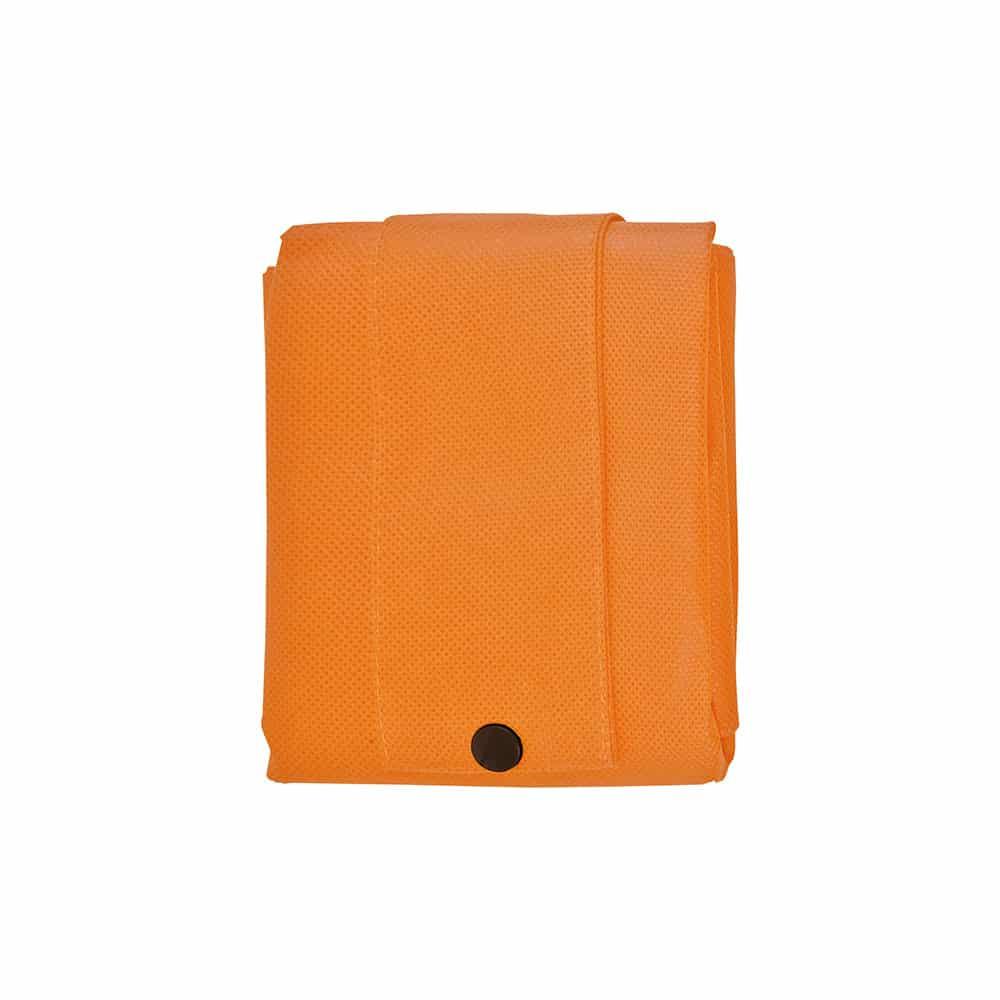 Shopper richiudibile in tnt arancione con manici corti