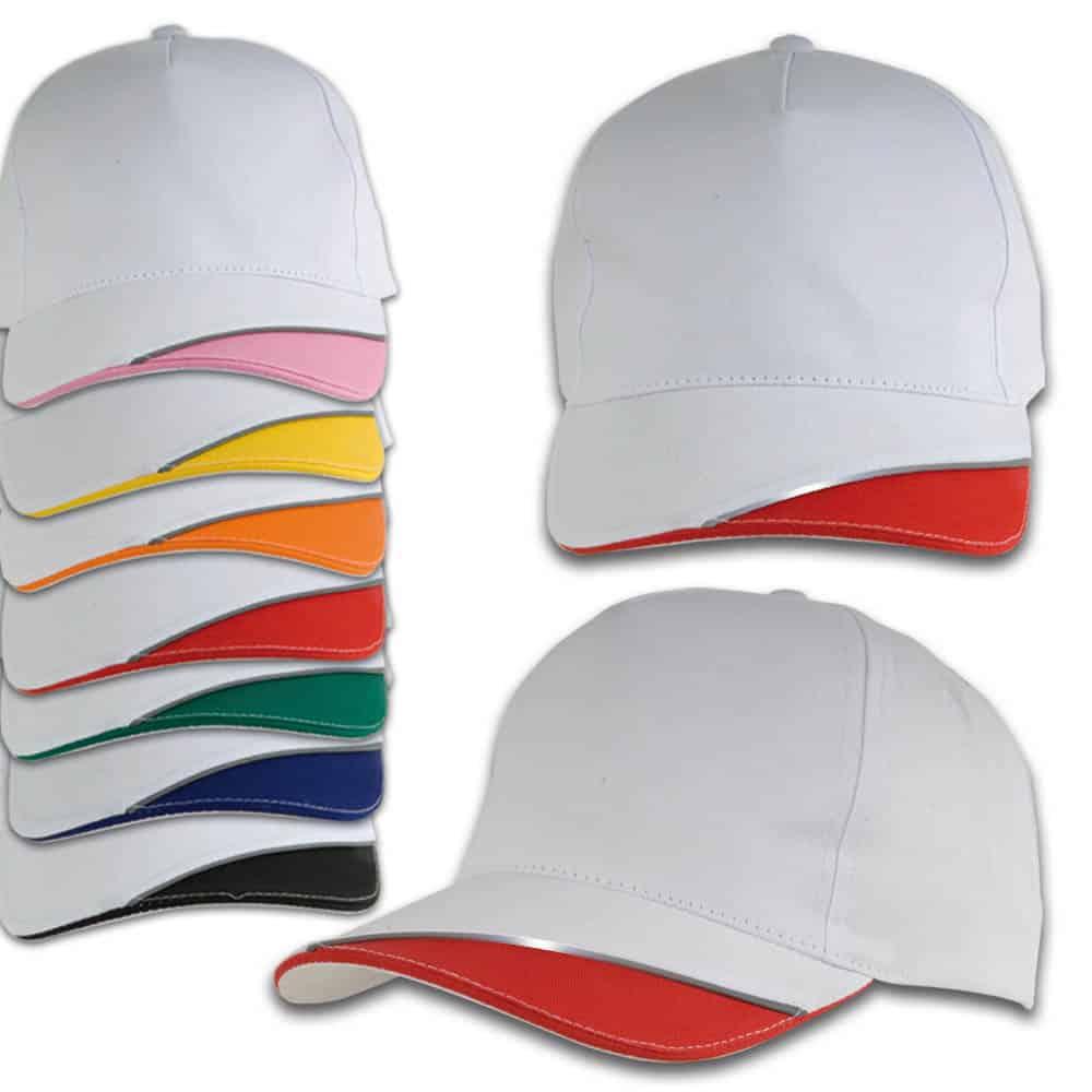 Cappellino di diversi colori con chiusura in velcro