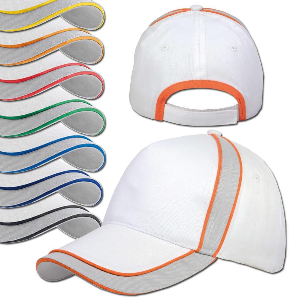 Cappellino di diversi colori in cotone con chisura in velcro