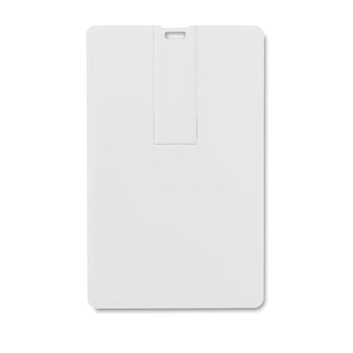 Chiavetta usb bianca a forma di carta di credito