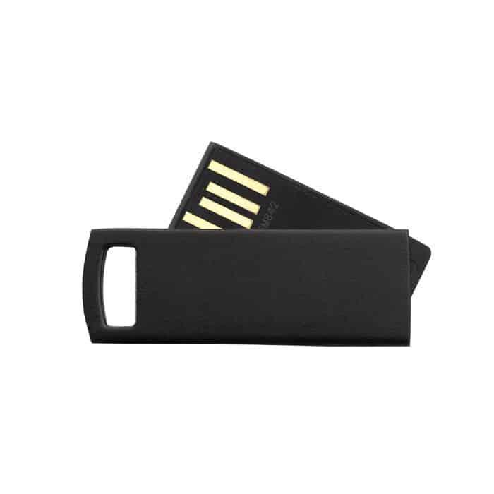 Mini chiavetta usb sottile in plastica nera
