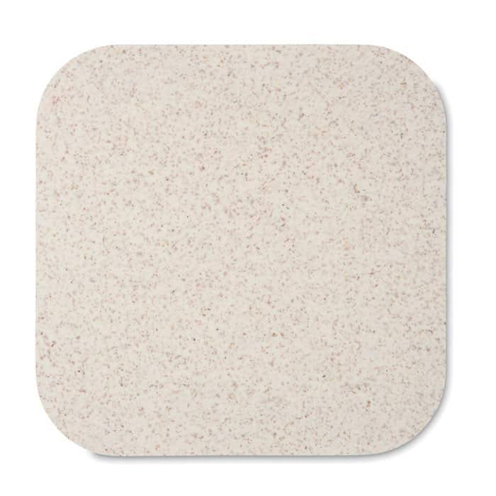 Caricatore wireless bianco in paglia di grano e abs